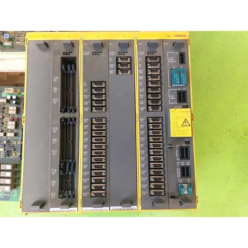 FANUC RACK COMPLETO DI SCHEDE - I/O - OPT1 - CPU - OPT2 - POWER